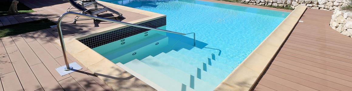 scala piscina recessa