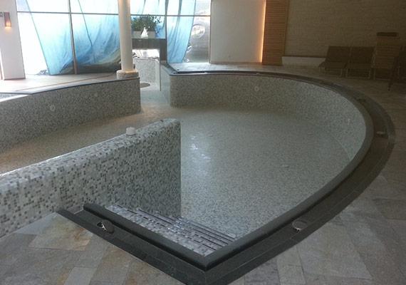 progettazione entrata piscina